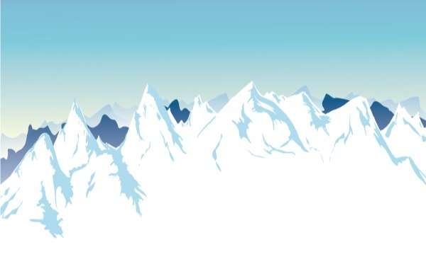 Snow Mountain background design vectors