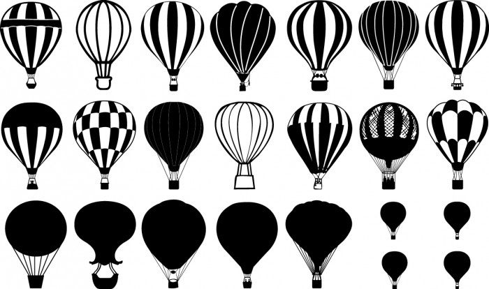 balloons silhouette
