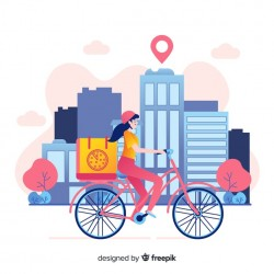 Bicycle delivery Vector