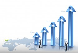 Business data arrow posteroad