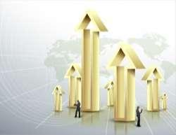 Business data arrow poster