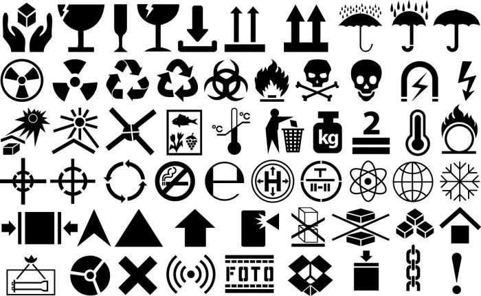 Cargo symbols Vector