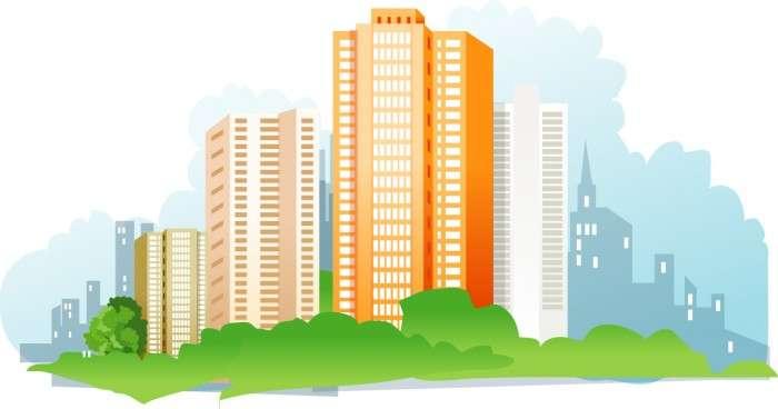 City high-rise buildings