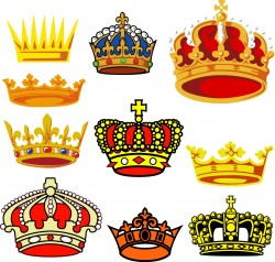 Crowns silhouette