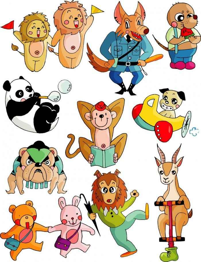 Cute cartoon animal series