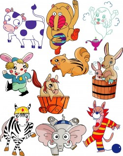 Cute cartoon animal series