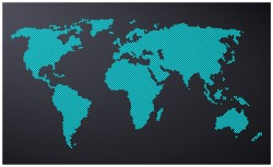 Dotted map world Vector