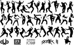 Dubstep dancer silhouette