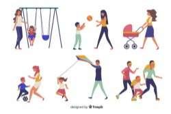 Family doing outdoor activities