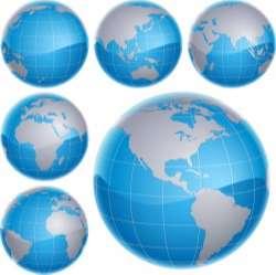 Globe Map Vector
