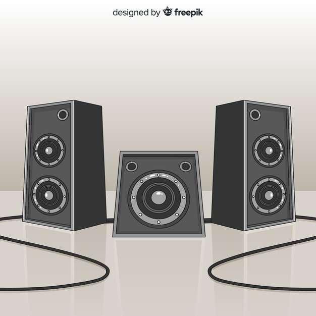 Hand drawn black speaker background