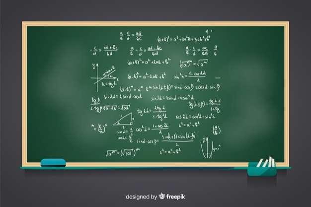 Maths realistic chalkboard background