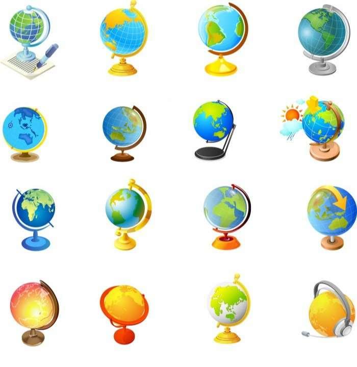 Office supplies – Globe Vector