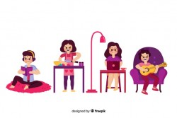 People at home Vector