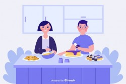 People cooking Vector