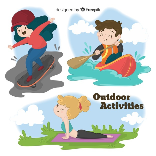 People doing outdoor activities Vector