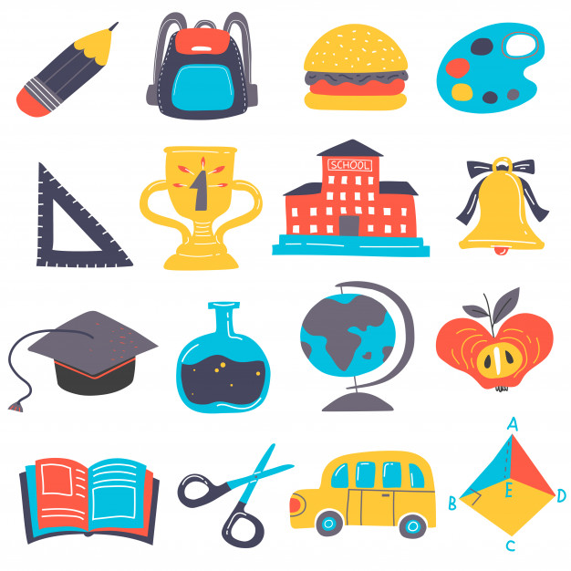 Back to school element set