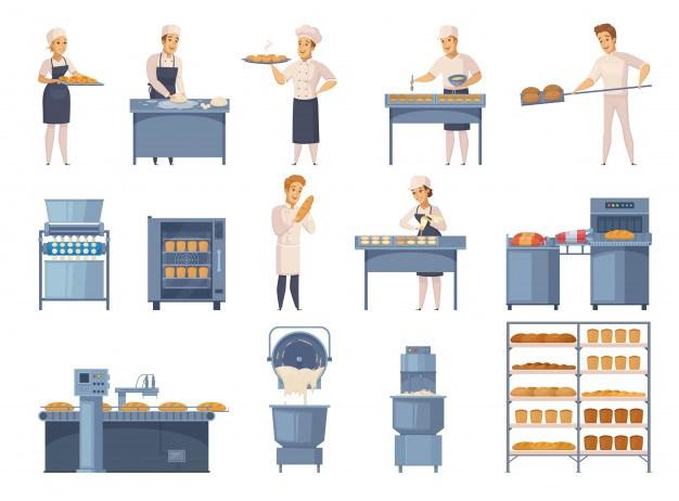 Bakery elements set