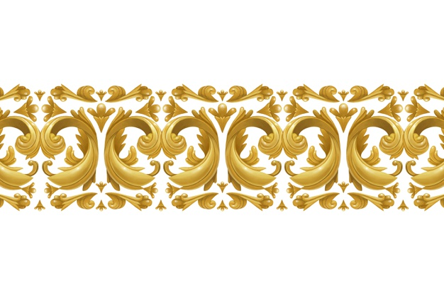 Golden ornamental border