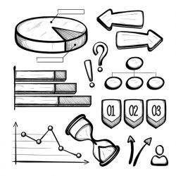 Hand drawn business infographic elements