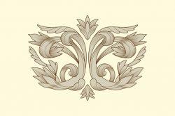 Hand drawn realistic ornamental border