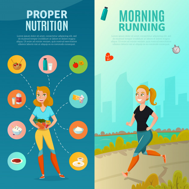 Healthy lifestyle banners