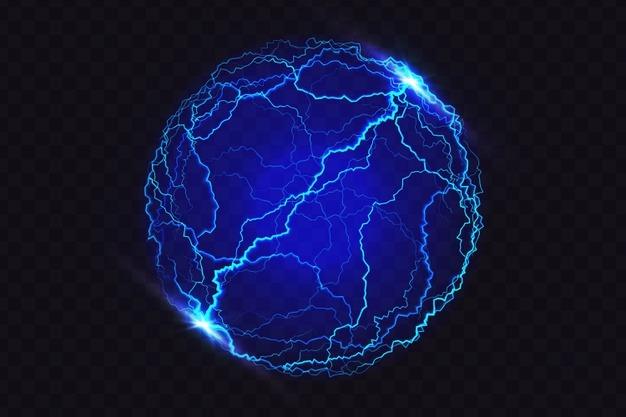 Illuminated ball light effect