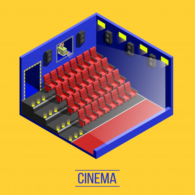 Isometric movie theater