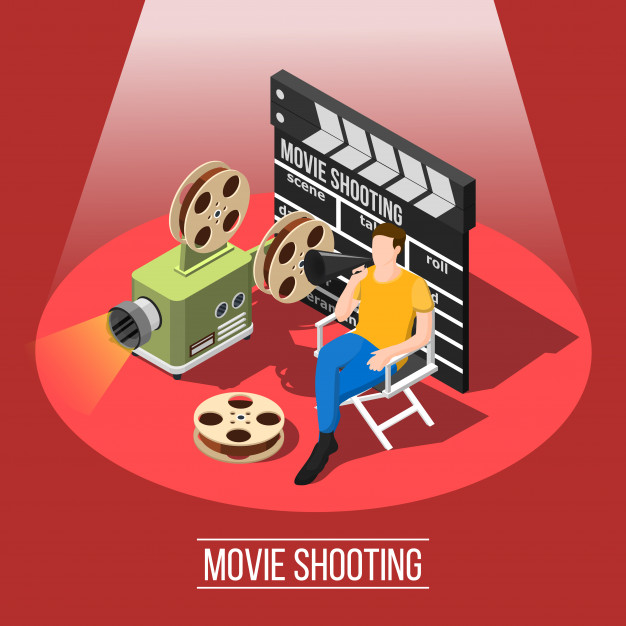 Movie shooting background