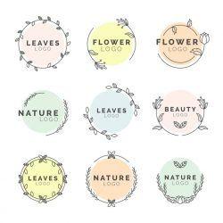 Natural business logos minimal design