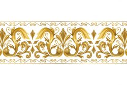 Ornamental golden border