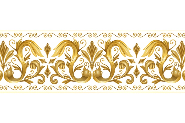 Ornamental golden border