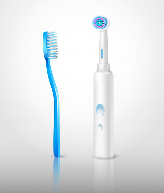 Realistic toothbrushes set