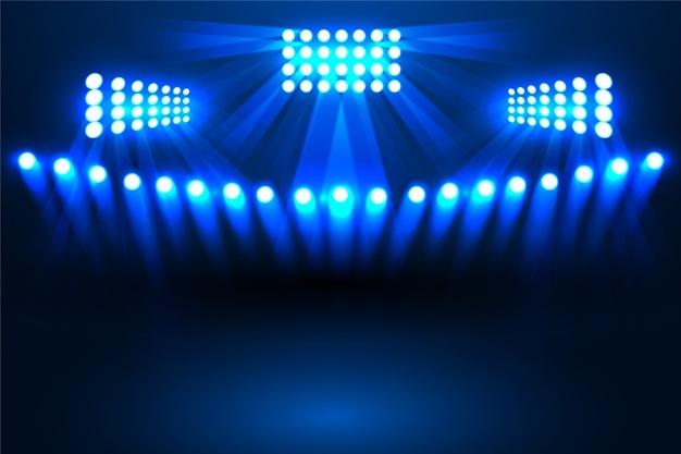 Shiny stadium light effect