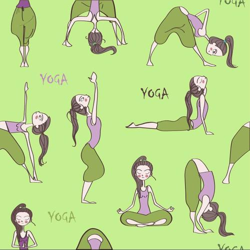 Funny yoga vector