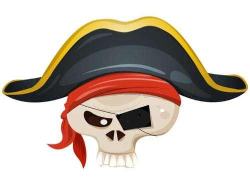 Pirate cartoon icon vector