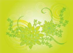 Green Plant Background vector material