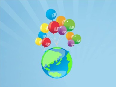 Balloons World vector