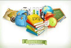 Learning utensil illustration vector