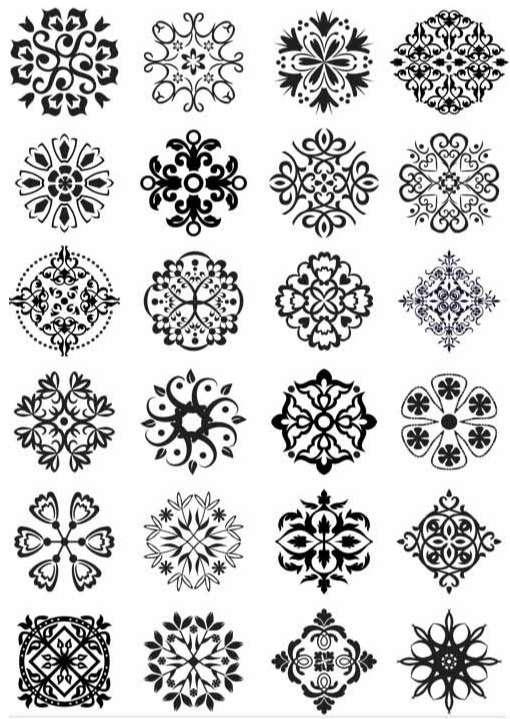 Vintage Design Elements 4 vectors graphic