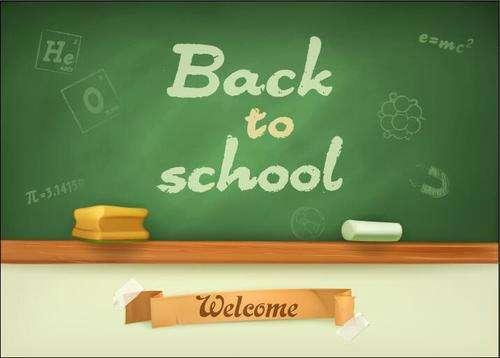 School blackboard and welcome slogan vector
