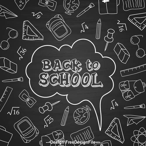 Black dialog back to school vector