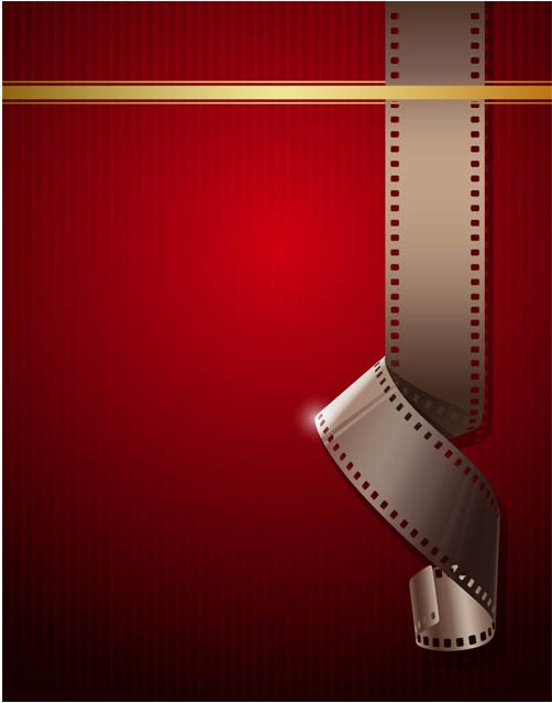 Red Movie Backgrounds art vector