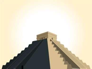 Mayan Pyramid vectors material