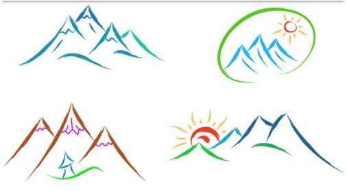 Mountain Logotypes set vector