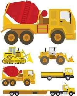 Heavy Machinery graphic vectors
