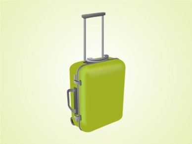Suitcase vector design