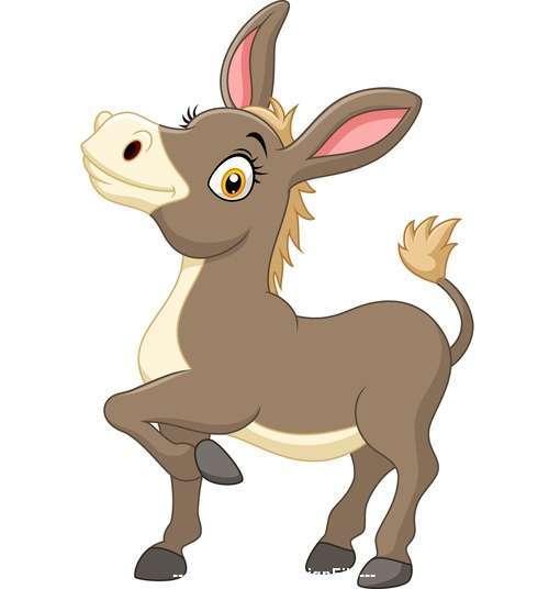 Cartoon donkey vector