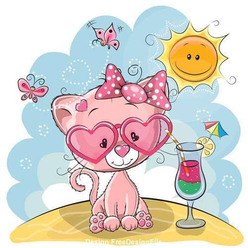 Lovely little lion cartoon vector