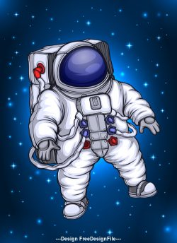 Astronaut in space vector